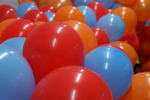 Luftballon-Meer
