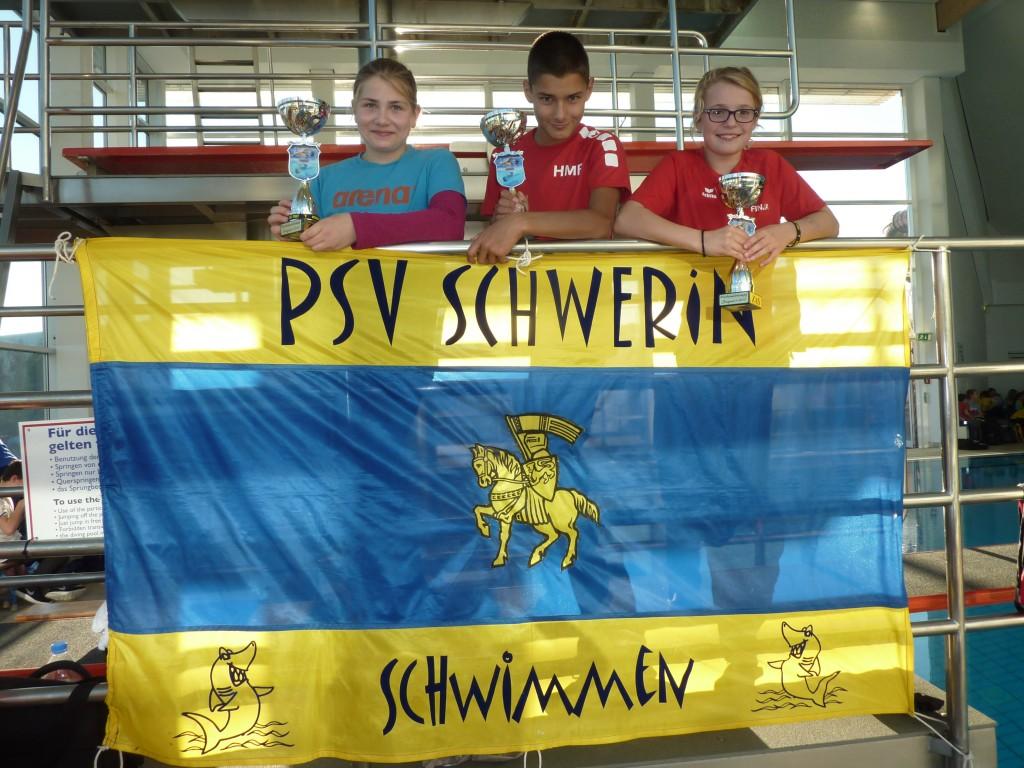Ann-Kathrin Kuhlmann, Hanno Böckmann und Finja Schönerstedt, Mehrkampfsieger