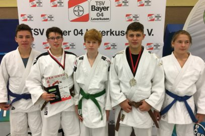Judoka beim internationalem Bayer Cup